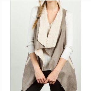 Jackets & Blazers - Gray Shearling Vest
